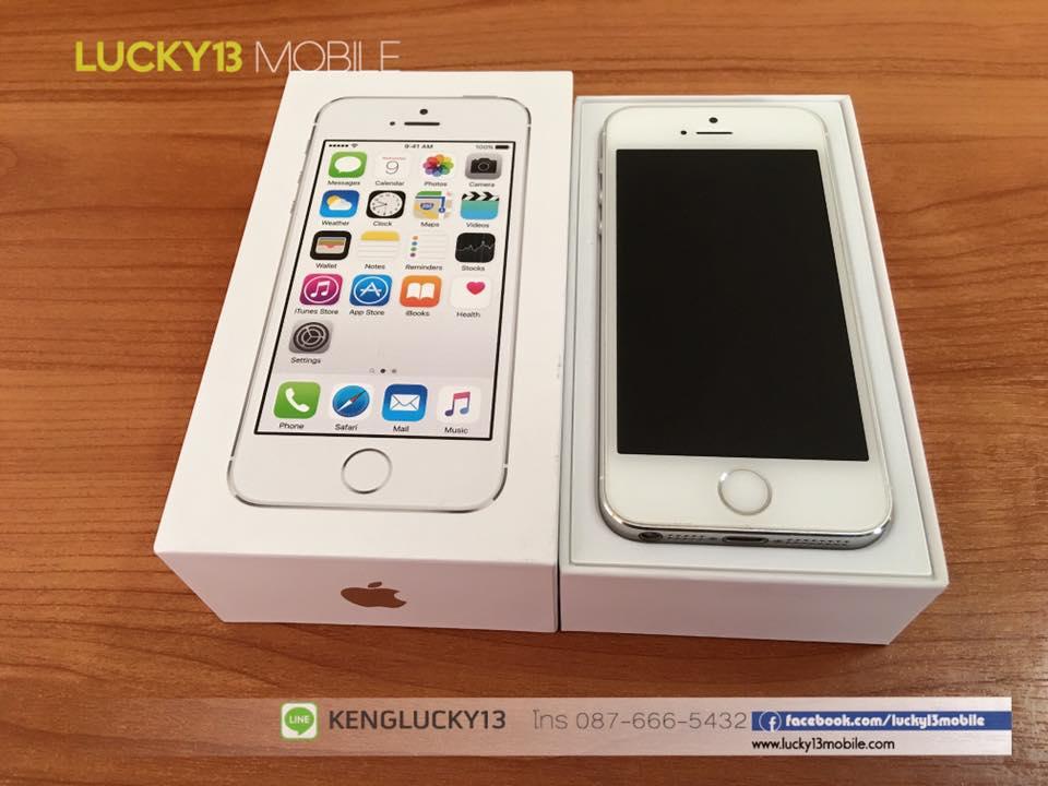 IPHONE5S 16GB สีขาวเงิน เครื่องศูนย์ไทย