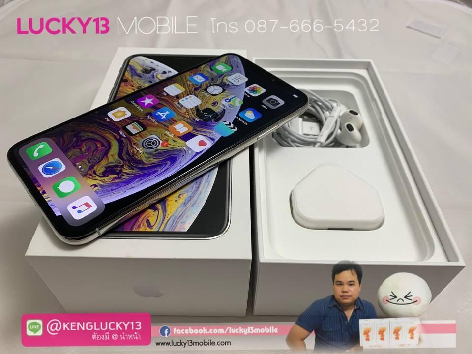 iPhone XSMAX 256GB SILVER HK 2SIM สภาพสวยมาก