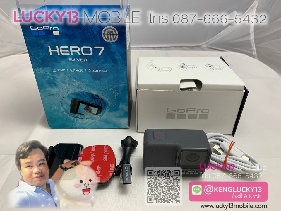 HERO7 SILVER TH สภาพสวยยกกล่อง ราคาถูกเหลือเกิน เพียง 5,500฿ เท่านั้นค้าบ !!
