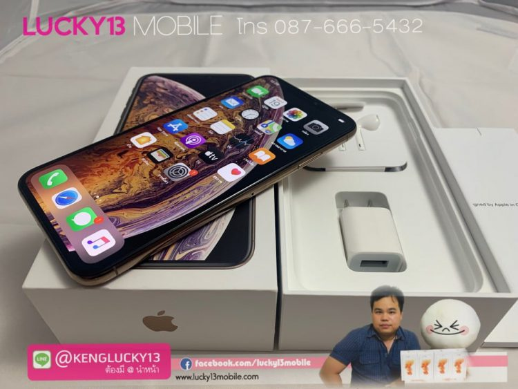 iPhone-XS-MAX-64GB-GOLD-ศูนย์ไทย-TH-สภาพนางฟ้า