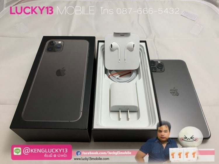 iPhone 11PROMAX 64GB SPACEGRAY ศูนย์ไทย TH อปก ครบยกกล่อง