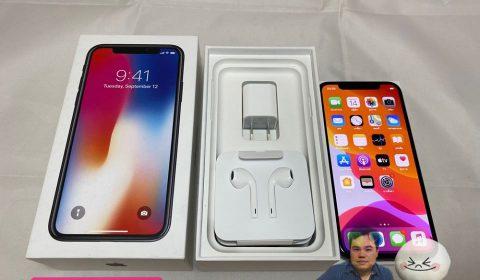 iPhone X 64GB SPACEGRAY TH อปก แท้ครบยกล่อง สภาพสวยมาก ใช้งานปกติ เพียง 13,900฿ เท่านั้น !!